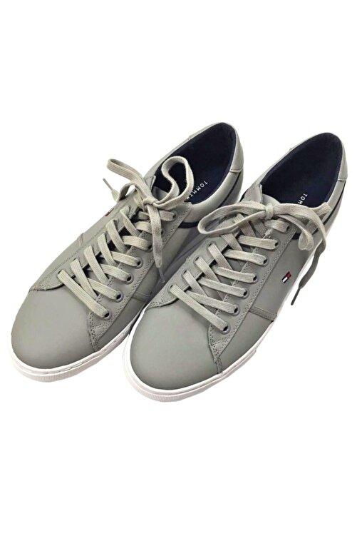 Tommy Hilfiger Gri Essential Leather Sneaker Fm0fm0268-prt 2