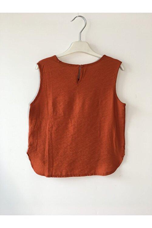nk kids Kız Çocuk Kremit Renkli Sıfır Kollu Bluz 2