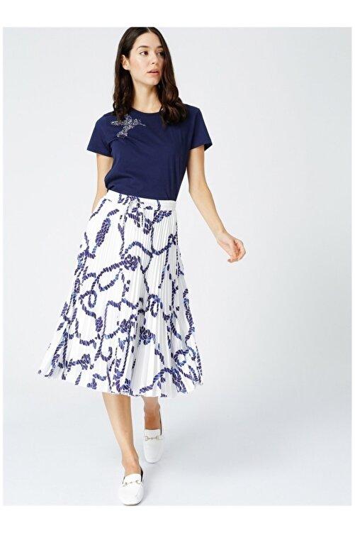 Fabrika Kadın Lacivert İşlemeli Tişört 2