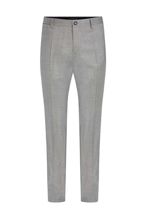 Tommy Hilfiger Erkek Gri Pantolon Wool Blend Solid Slim Fit Pants TT0TT06280 1