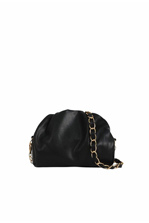 Moom Bag Kadın Siyah Fermuarlı Askılı Çanta 1