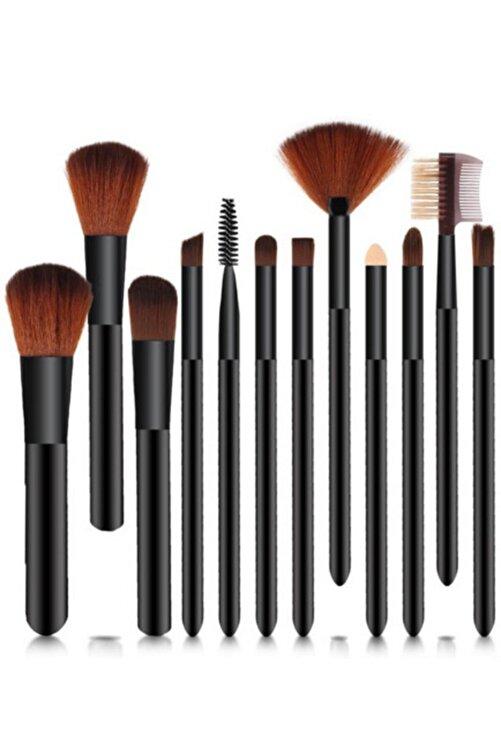 Roesıa Rose Cosmetics Silindir Model 12'li Fırça Seti, Kutulu Siyah Renk 1