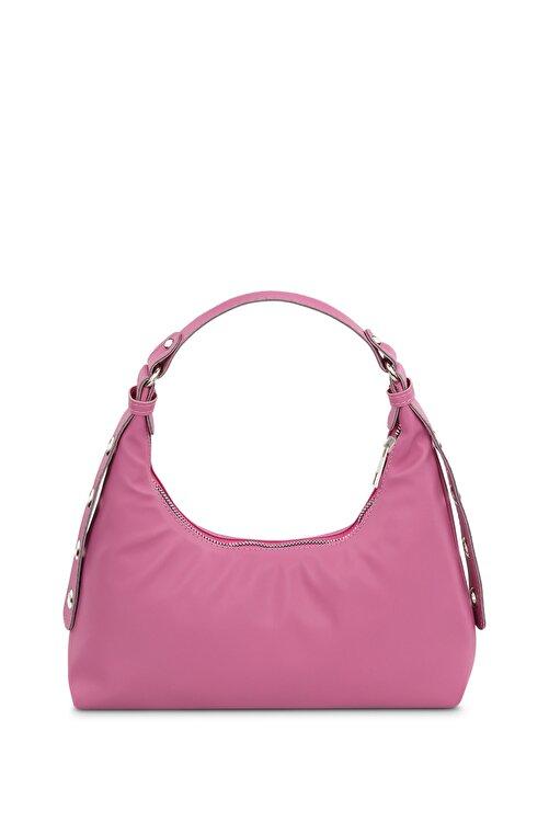 Housebags Kadın Pembe Baguette Çanta 205 2