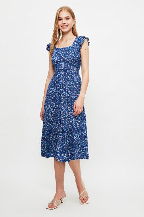TRENDYOLMİLLA Lacivert Çiçek Desenli Elbise TWOSS20EL3331 2