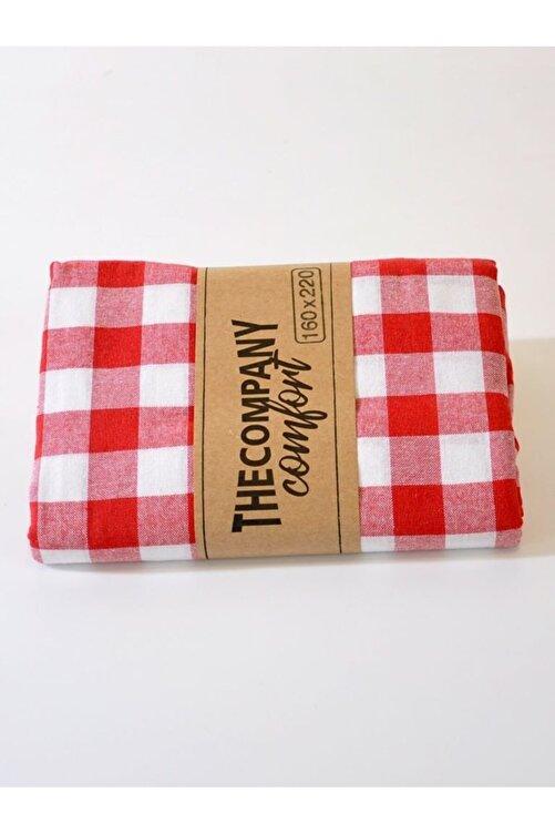 The Company Kareli Piknik Masa Ve Yer Örtüsü Retro Kırmızı 160x220 2