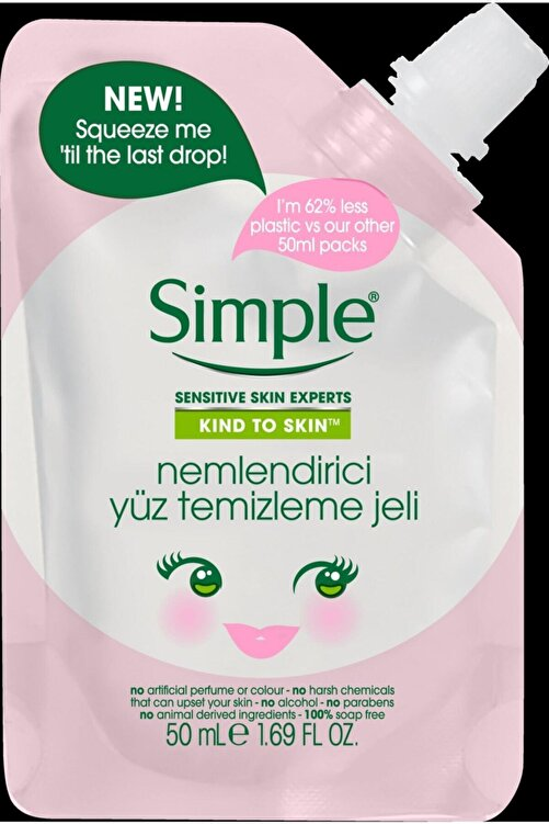 Simple Kind To Skin Mini Nemlendirici Yüz Temizleme Jeli 50 ml 67749456 1