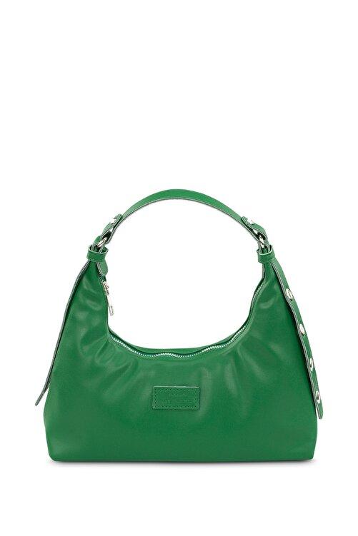 Housebags Kadın Yeşil Baguette Çanta 205 1