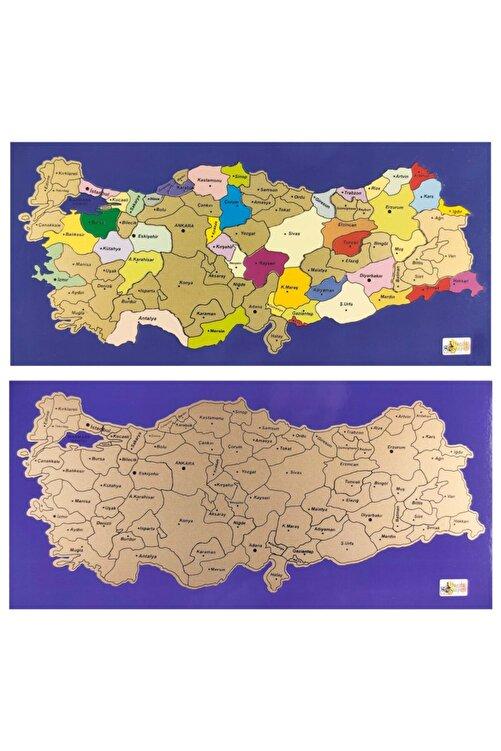 Harita Sepeti Kazınabilir Kazımalı Gez Kazı Magnetli Mini Boy Türkiye Haritası 1