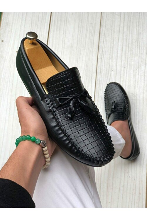 Zegeshoes Erkek Siyah Yazlık Günlük Ayakkabı 1