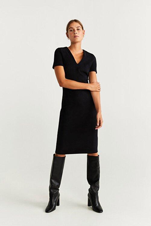 Mango Kadın Siyah Elbise 57965908 1