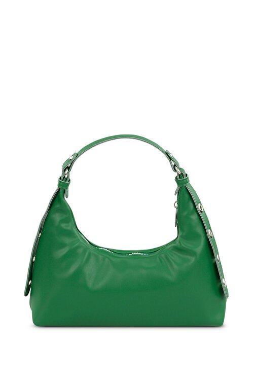Housebags Kadın Yeşil Baguette Çanta 205 2