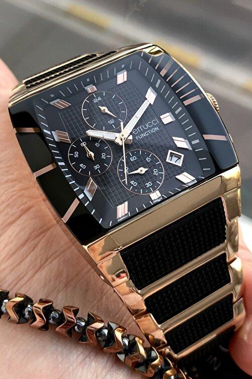 Ferrucci Erkek Siyah Function Çelik Kordon  Kol Saati + Bileklik 2