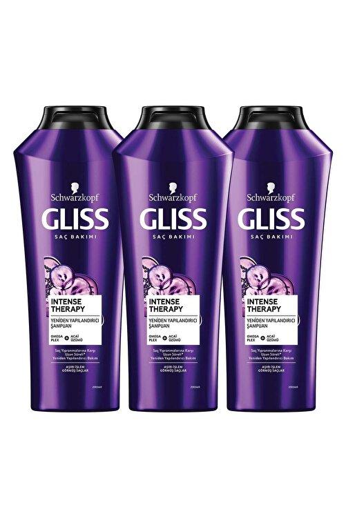 Gliss Intense Therapy Yeniden Yapılandırıcı Şampuan 360 ML 3'lü 1