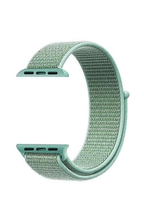 Robotekno Deniz Yeşili Apple Watch Dokuma Kordon Kayış - 38mm 40mm 1