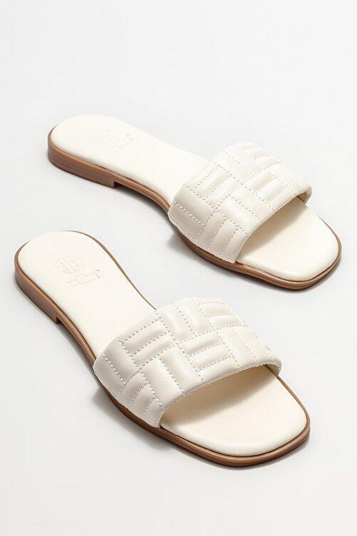 Elle Shoes Bej Kadın Düz Terlik 2