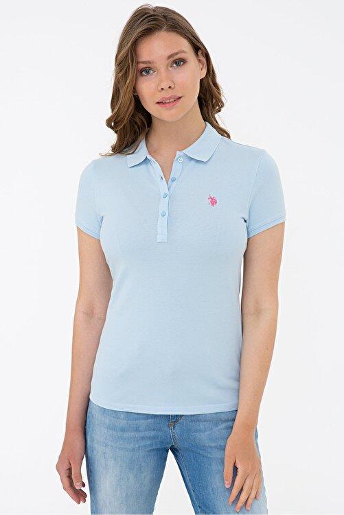 U.S. Polo Assn. Mavı Kadın T-Shirt 1
