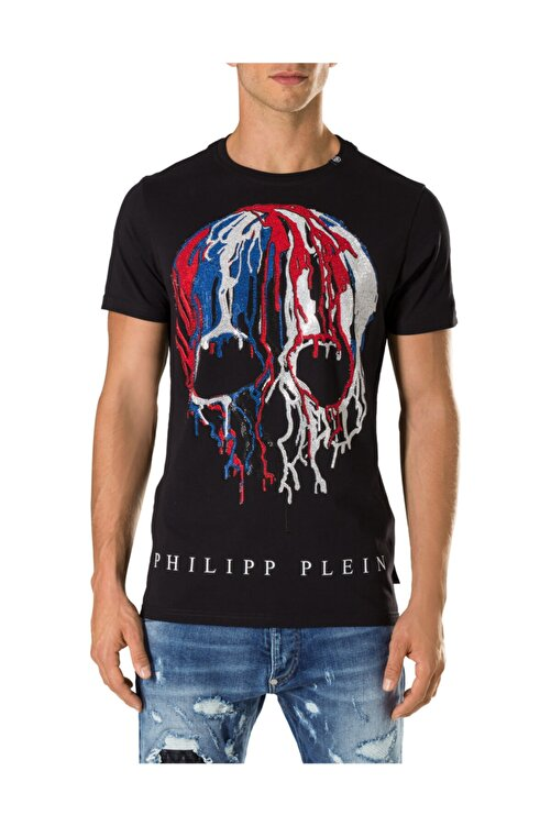 PHILIPP PLEIN Erkek T-shırt Siyah - Medıum Beden 1