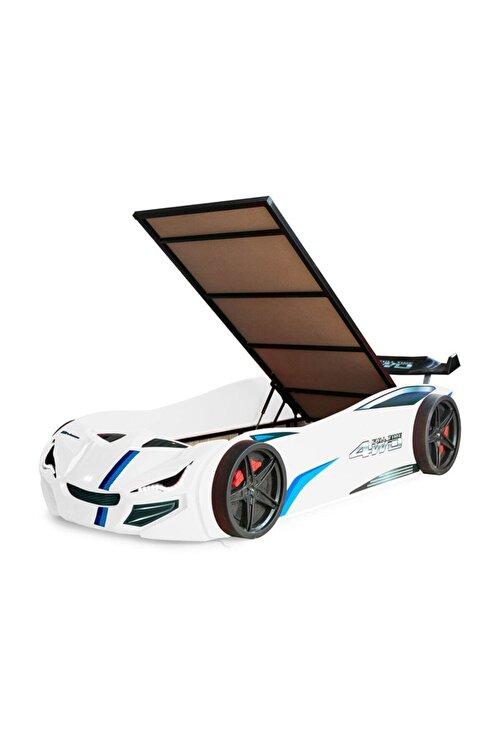 Setay Merso Eko Bazalı Rüzgarlıklı Arabalı Yatak Beyaz 1
