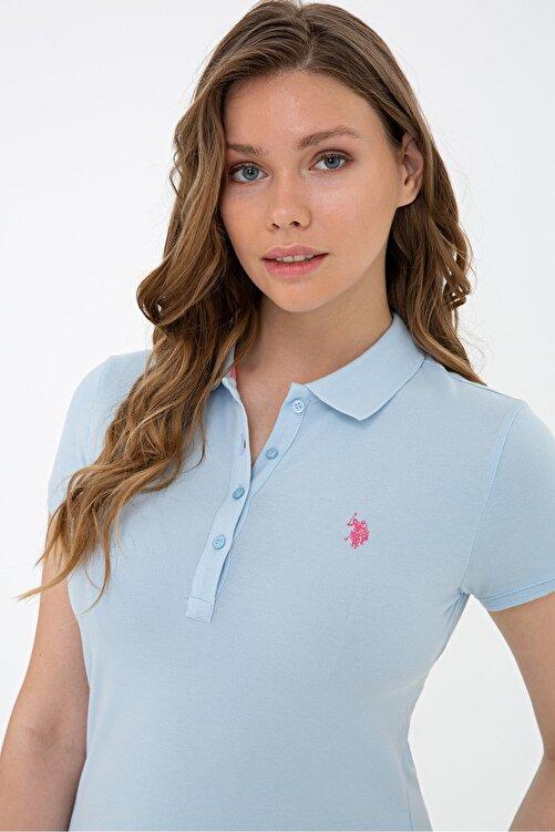 U.S. Polo Assn. Mavı Kadın T-Shirt 2