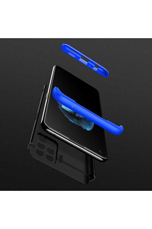 Oppo Fibaks Reno 5 Lite Kılıf + Ekran Koruma 360 Derece Tam Koruma 3 Parçalı Sert Kapak 2