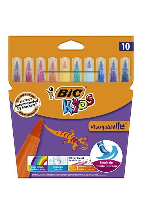 Bic Kids Visaquarelle Fırça Uçlu Keçeli Boya Kalemi 10 Renk 1