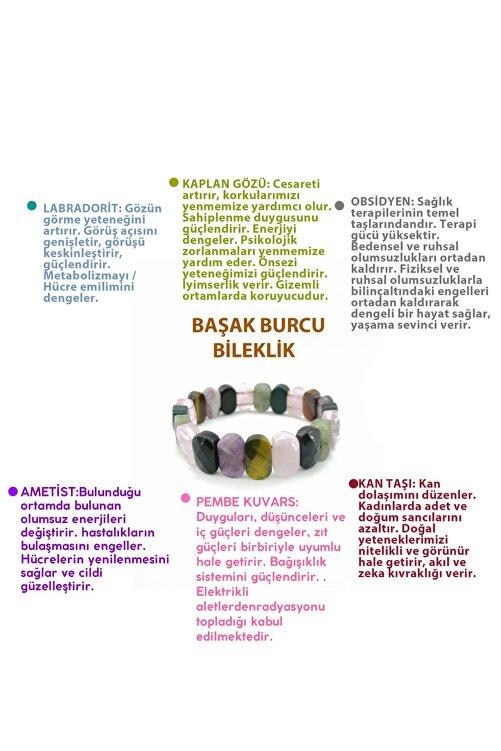 OSMANLI DOĞAL TAŞ Başak Burcu Bileklik-labradoirt-kaplan Gözü-obsidyen-kan Taşı-ametist-pembe Kuvars 1