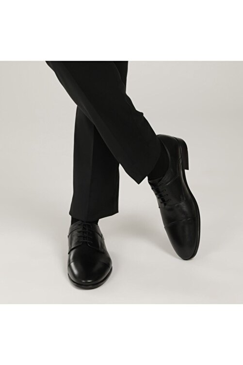 Garamond 2386-3 1 FX Siyah Erkek Klasik Ayakkabı 101015109 1