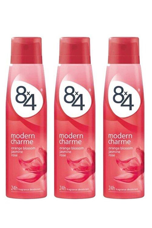 8x4 Modern Charme Kadın Deo Sprey 150 ml X 3 Adet 1