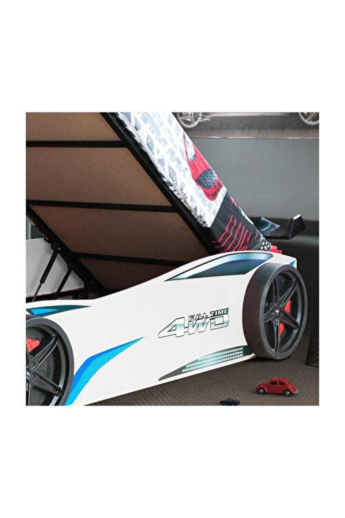 Setay Merso Eko Bazalı Rüzgarlıklı Arabalı Yatak Beyaz 2