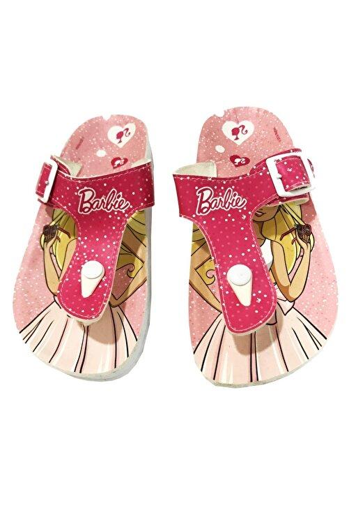 Barbie Kız Çocuk Lisanslı Pembe Yazlık Terlik Ayarlamalı 1
