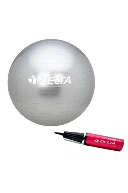 Delta 55 Cm Silver Deluxe Pilates Topu 25 Cm Pilates Topu Pompası 1