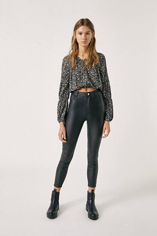 Pull & Bear Kadın Siyah High Waist Basic Jeans 09678311 2