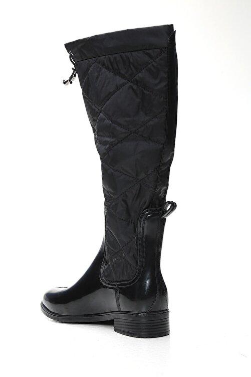 Ayakkabı Modası Kadın Siyah Yağmur Çizmesi 2