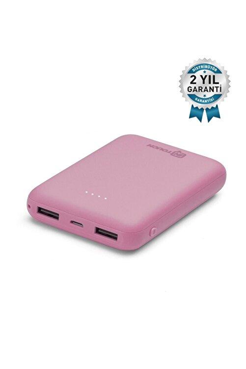 İntouch Basic 10.000 Mah. 2 Çıkışlı Taşınabilir Sarj Cihazı Powerbank Pembe 1