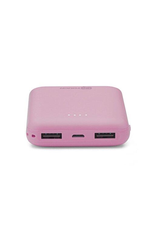İntouch Basic 10.000 Mah. 2 Çıkışlı Taşınabilir Sarj Cihazı Powerbank Pembe 2