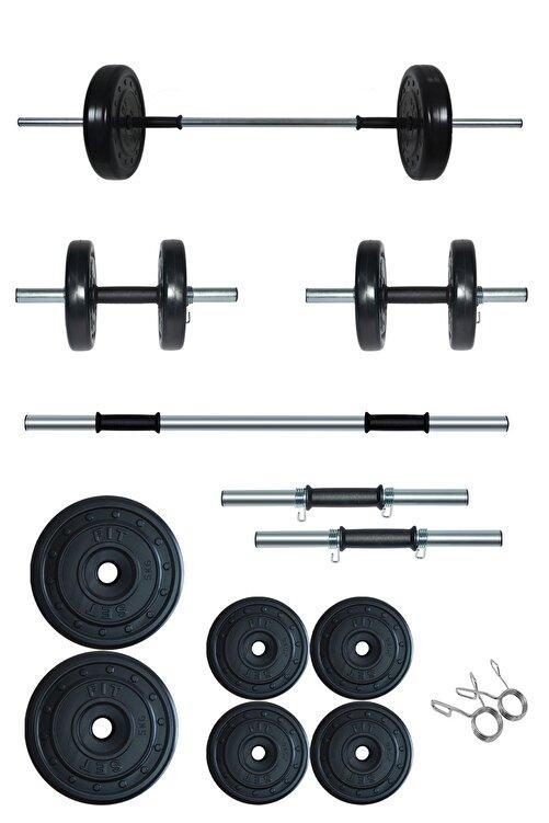 Fitset 25 Kg Kombo Halter Seti Ve Dambıl Seti Ağırlık Fitness Seti 1