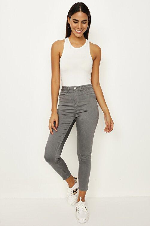 Select Moda Kadın Füme Skinny Pantolon 1