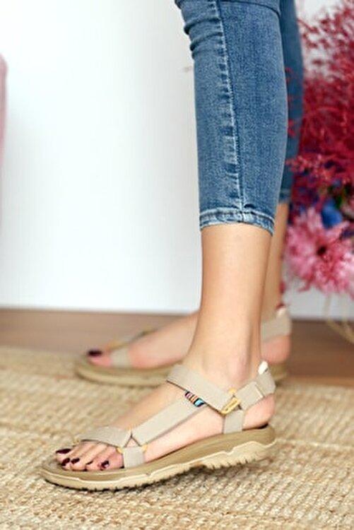 Pembe Potin Kadın Vizon Sandalet 2