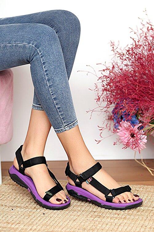 Pembe Potin Kadın Mor Sandalet 1