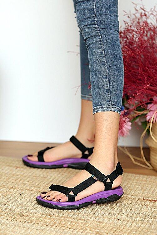 Pembe Potin Kadın Mor Sandalet 2