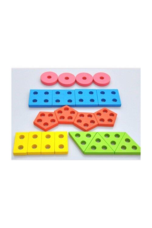 Wooden Toys Ahşap 5'li Geometri Geçirme 2