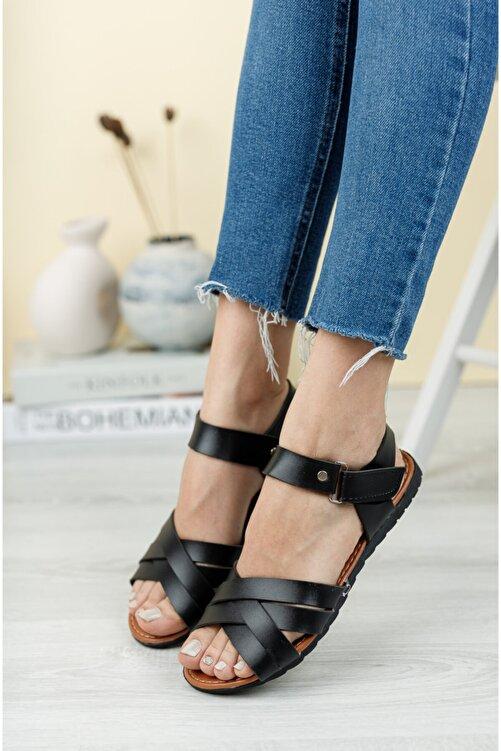 Fogs Kadın Siyah Sandalet 1