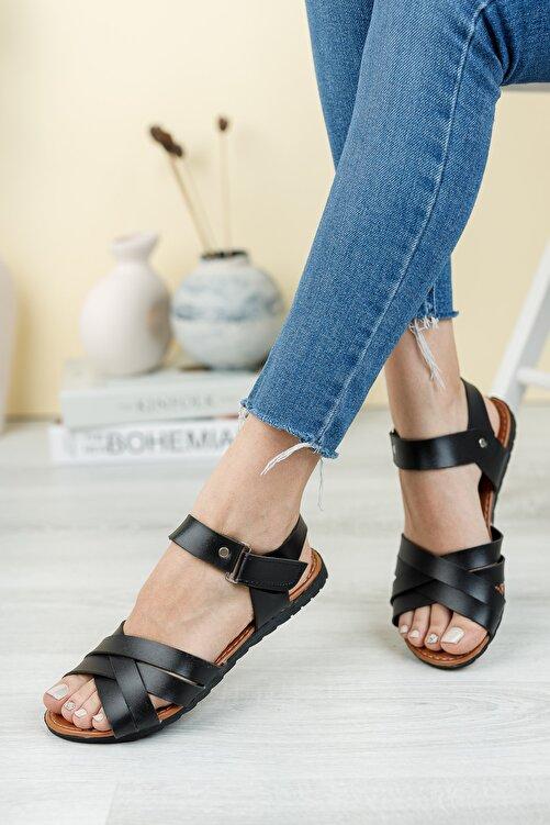 Fogs Kadın Siyah Sandalet 2