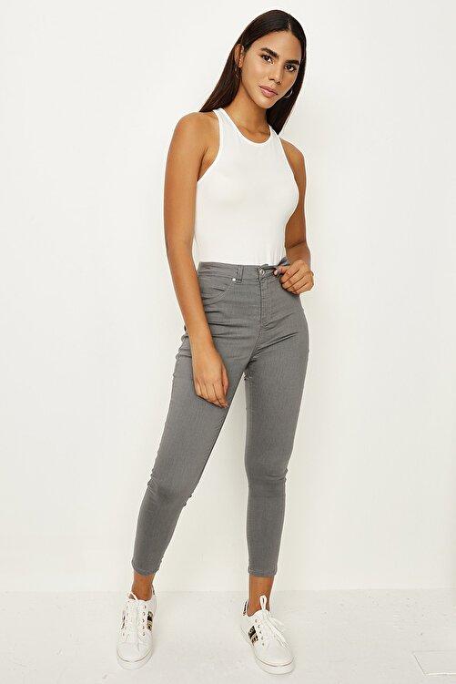 Select Moda Kadın Füme Skinny Pantolon 2