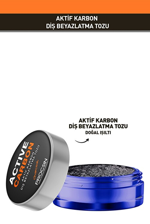Procsin Aktif Karbon Diş Beyazlatma Tozu 8682427005503 2