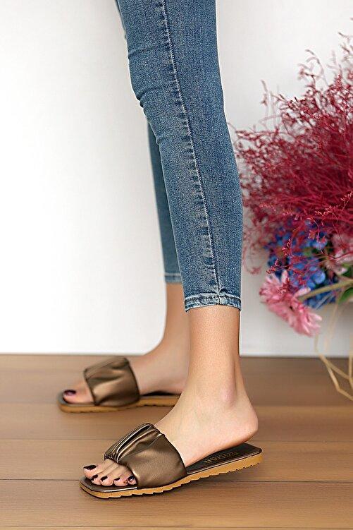 Pembe Potin Kadın Bakır Sandalet 2