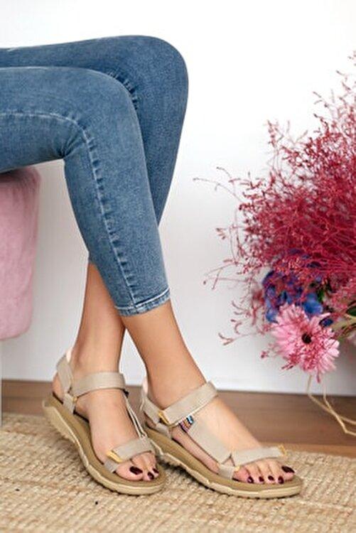 Pembe Potin Kadın Vizon Sandalet 1