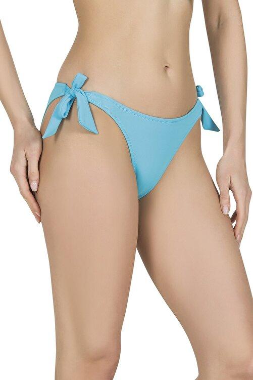 Endeep Kadın Kalın Bağcıklı Mavi Bikini Altı 1