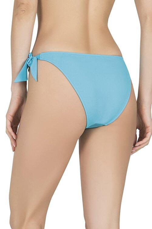 Endeep Kadın Kalın Bağcıklı Mavi Bikini Altı 2