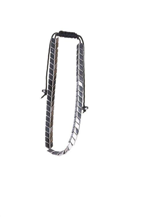YamanUslu Aksesuar Unisex Gümüş Kaplama Gümüş Renk Çelik Bileklik 2